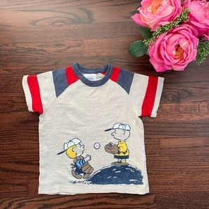 Hanna Andersson Peanuts tee shirt, 100/4US